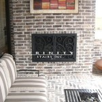 Outdoor Iron Fire Place Screen #10