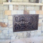 Outdoor Wrought Iron Fire Place Screen #12