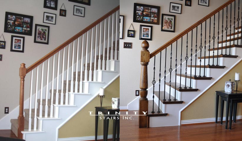 Stair Remodel Before After 2