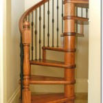 Wood and Metal Spiral Staircase #9
