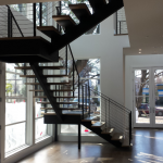 Contemporary Modern steel cable stairs #18A