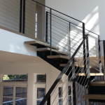 Contemporary Modern steel cable stairs #18C