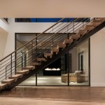 Contemporary Stairs #22 - White Oak, Urban Classic Railing, Mono String
