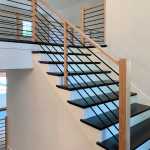 37C Wood and Metal Stairs